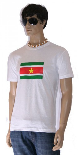Wit heren t shirt Suriname