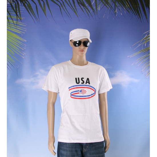 Wit heren t shirt USA