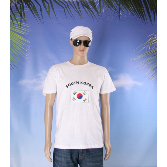Wit heren t shirt Zuid Korea