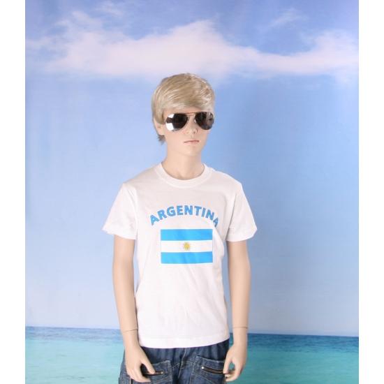 Wit kinder t shirt Argentinie