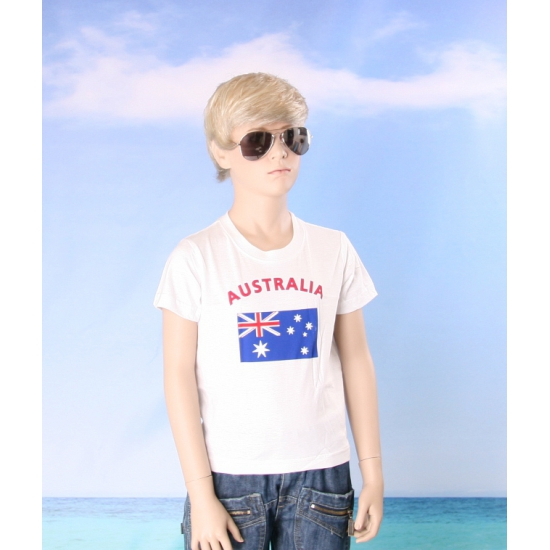 Wit kinder t shirt Australie