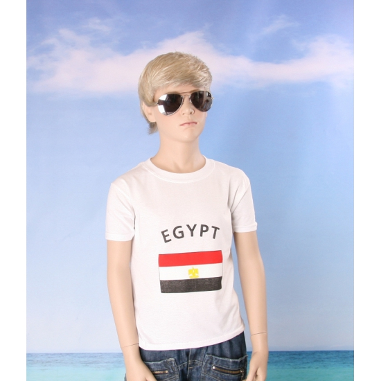 Wit kinder t shirt Egypte