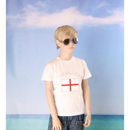 Wit kinder t shirt Engeland