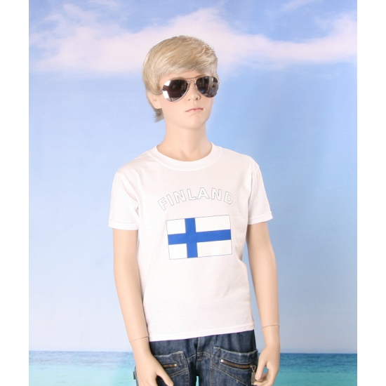 Wit kinder t shirt Finland