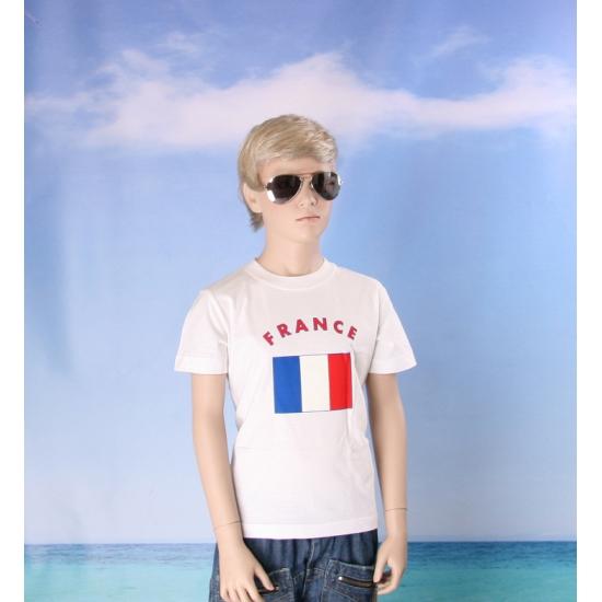 Wit kinder t shirt Frankrijk