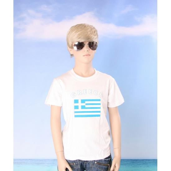 Wit kinder t shirt Griekenland
