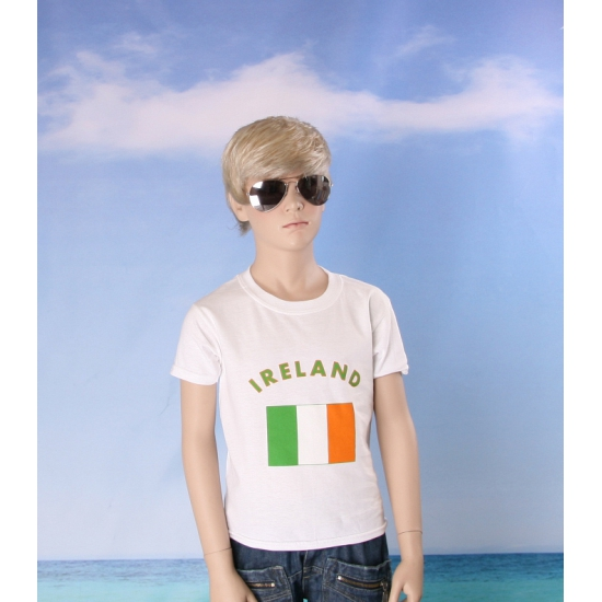 Wit kinder t shirt Ierland