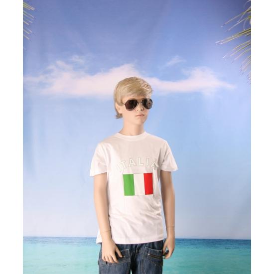 Wit kinder t shirt Italie