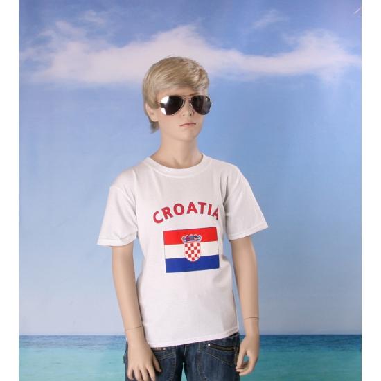 Wit kinder t shirt Kroatie