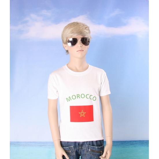 Wit kinder t shirt Marokko