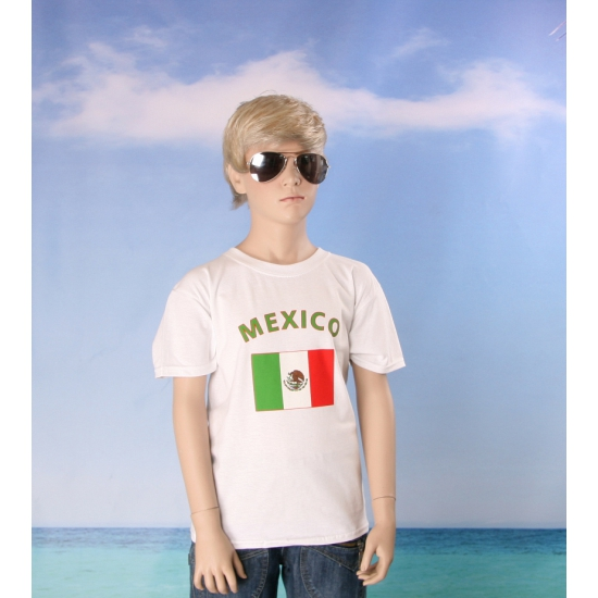 Wit kinder t shirt Mexico