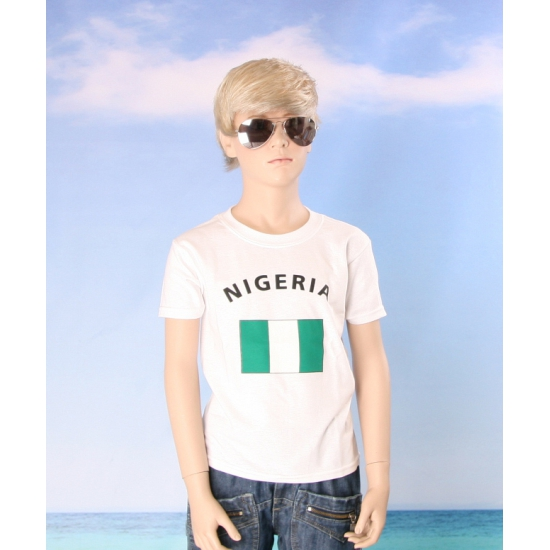 Wit kinder t shirt Nigeria