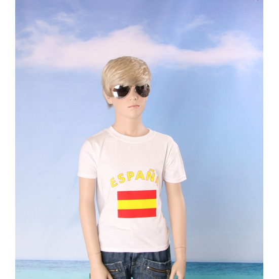 Wit kinder t shirt Spanje