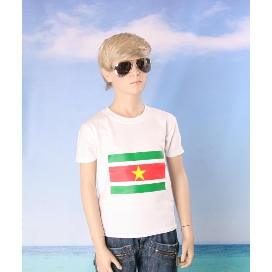 Wit kinder t shirt Suriname