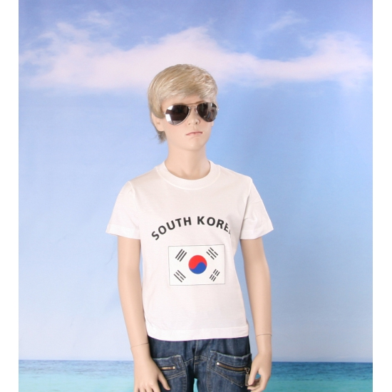 Wit kinder t shirt Zuid Korea