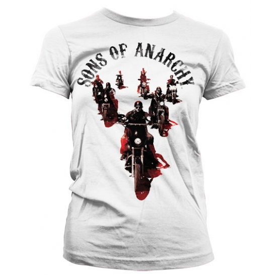 Wit Sons Of Anarchy shirt dames