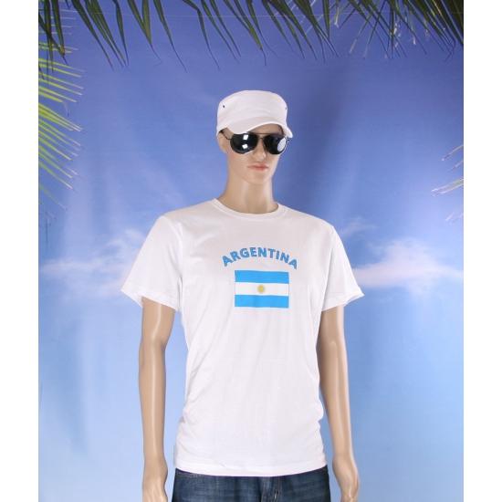Wit t shirt Argentinie volwassenen