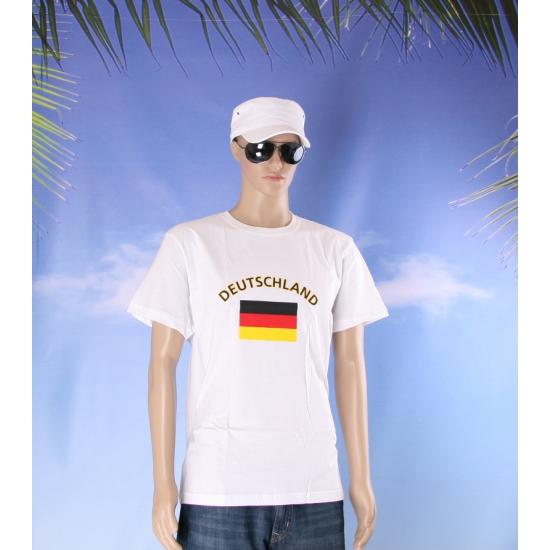 Wit t shirt Duitsland volwassenen