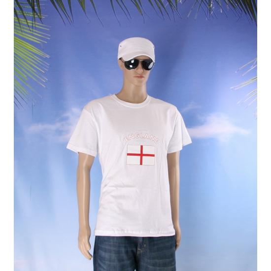 Wit t shirt Engeland volwassenen