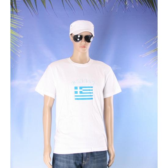 Wit t shirt Griekenland volwassenen
