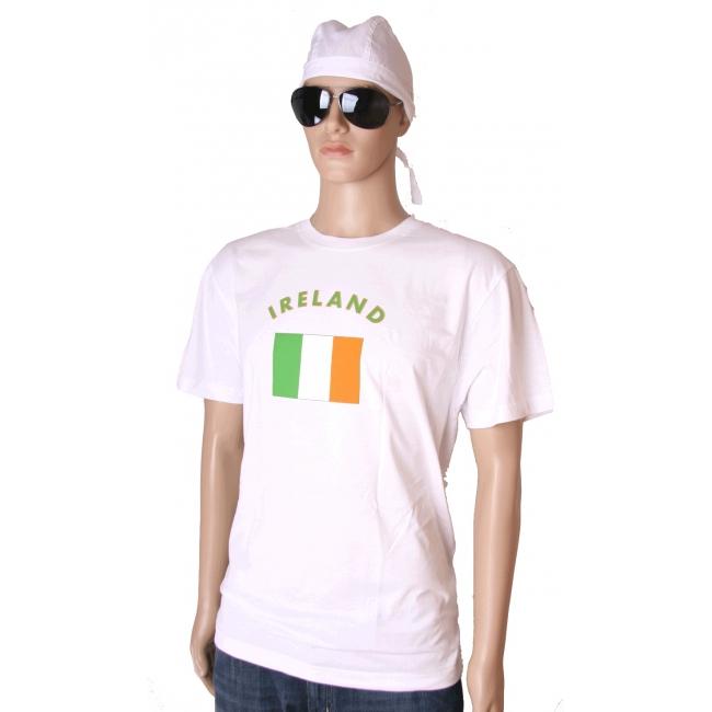 Wit t shirt Ierland volwassenen