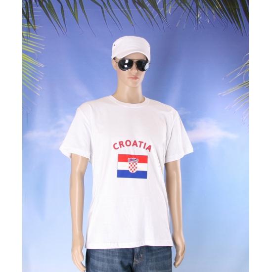 Wit t shirt Kroatie volwassenen