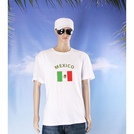 Wit t shirt Mexico volwassenen
