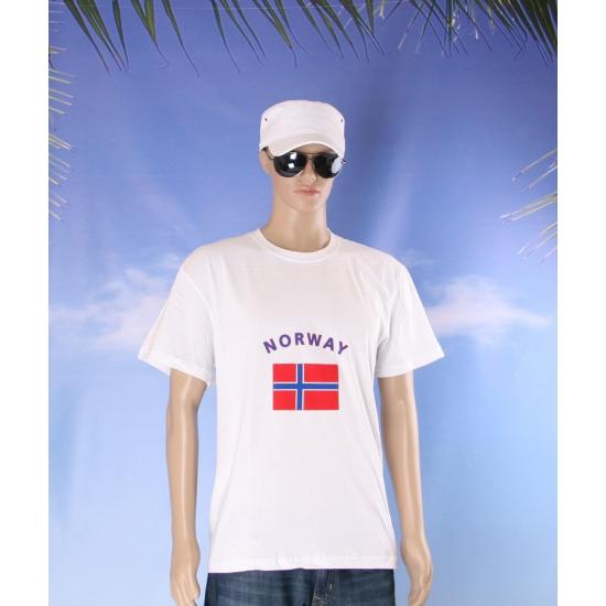 Wit t shirt Noorwegen volwassenen