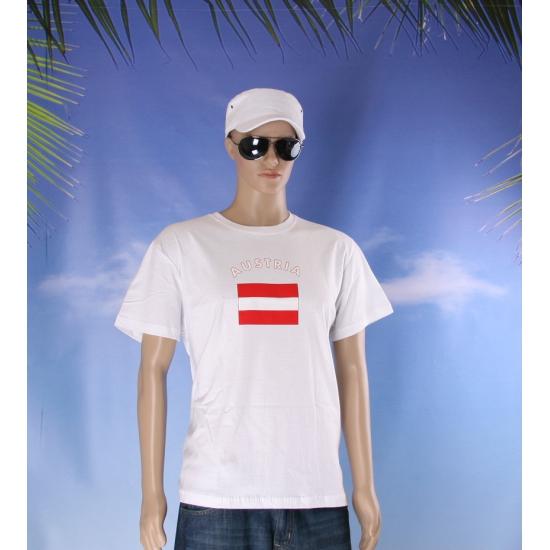 Wit t shirt Oostenrijk volwassenen