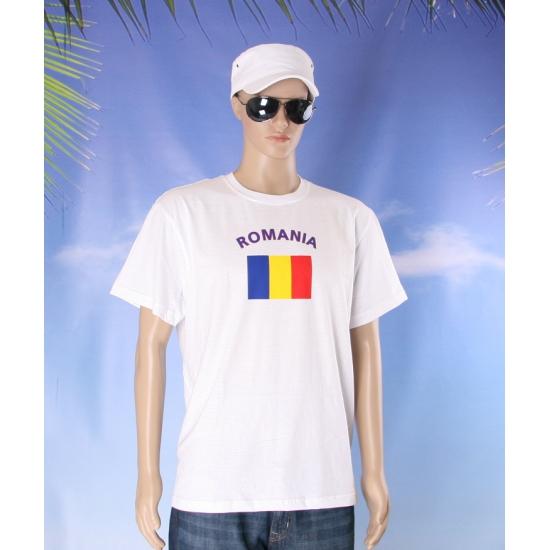 Wit t shirt Roemenie volwassenen