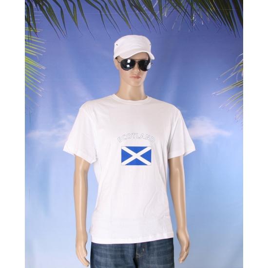 Wit t shirt Schotland volwassenen