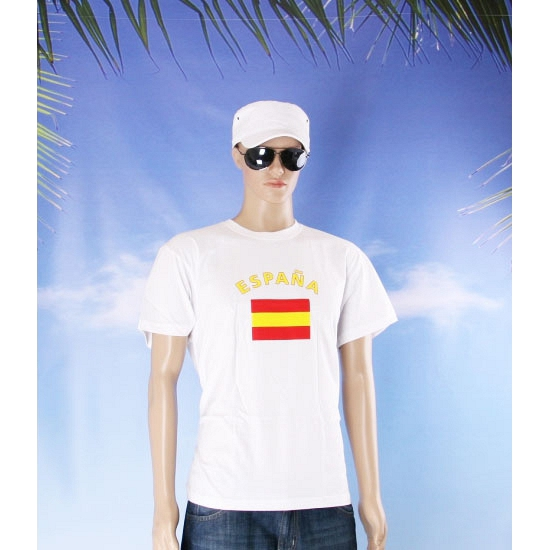 Wit t shirt Spanje volwassenen