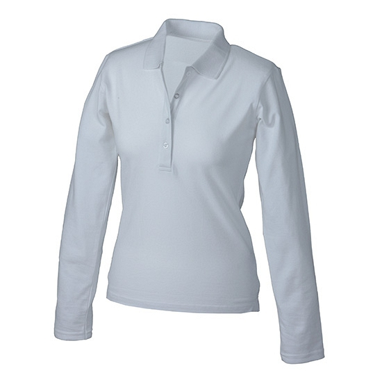 Witte stretch poloshirts voor dames