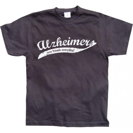 Zwart Alzheimer t shirt