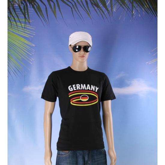 Zwart Duits heren shirt