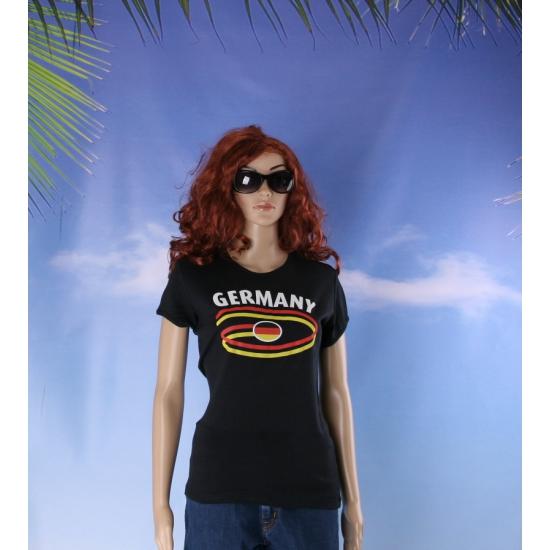 Zwart Duits shirt Germany voor dames