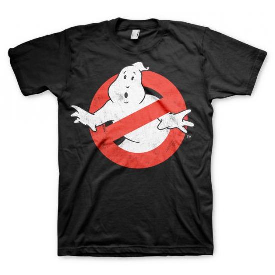 Zwart Ghostbusters logo t shirt