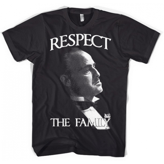 Zwart Respect the Family t shirt