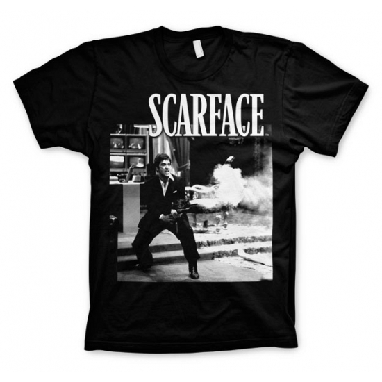 Zwart Scarface Wanna Play Rough t shirt