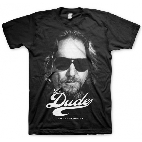 Zwart The Dude t shirt
