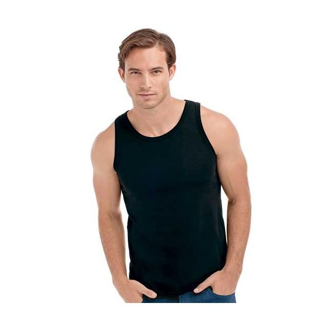 Zwarte mouwloze heren t shirts