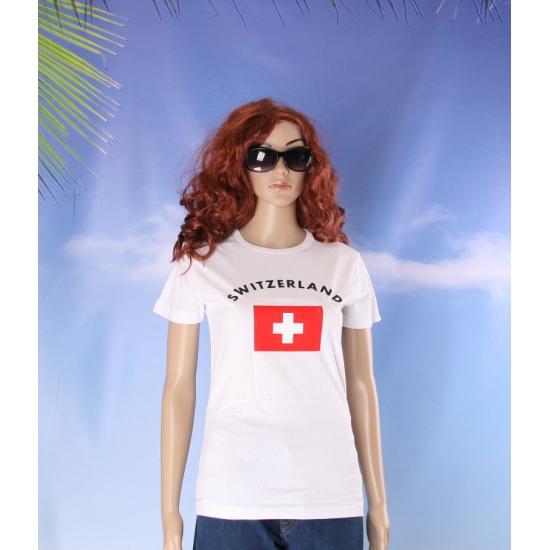 Zwitserse vlaggen t shirt voor dames