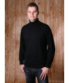 Alan red col shirt zwart