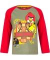 Angry birds t shirt groen rood voor jongens