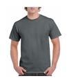 Antraciet grijs katoenen shirt voor volwassenen