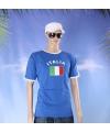 Blauw heren shirt italie
