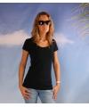 Bodyfit navy dames t shirt