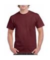 Bordeaux rood katoenen shirt voor volwassenen