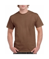 Bruin katoenen shirt voor volwassenen