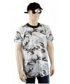 Camouflage t shirt korte mouw